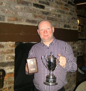 Eddie Dunbar with Trophy