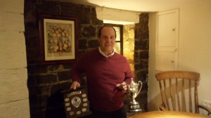 Ian McGeorge with Trophys