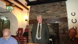 Kenn Ball chairing the meeting